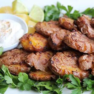 Crash & Burn Potatoes with Cinnamon Malt Vinegar