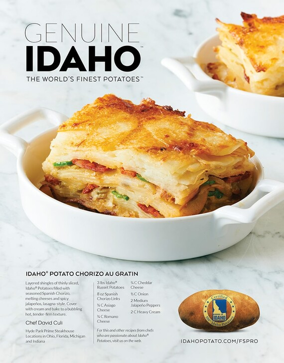 Idaho® Potato Chorizo Au Gratin