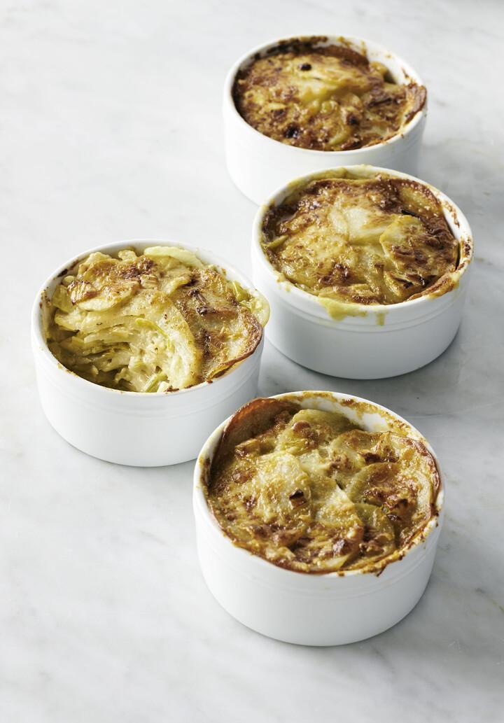 Fennel Leek Potato Gratin