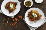 Spiced Idaho® Potato & Carrot Latkes