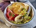 Potato-Bacon Sausage with Celery-Mustard Relish