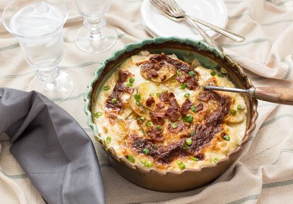 Roasted Garlic & Chive Au Gratin Potatoes