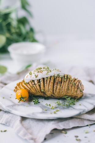 Hassleback Potatoes with Herbs