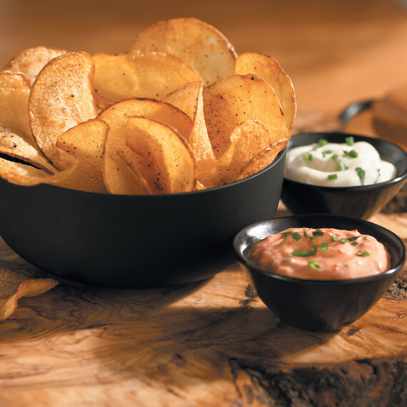 Blu Idaho® Potato Chips with Two Dips