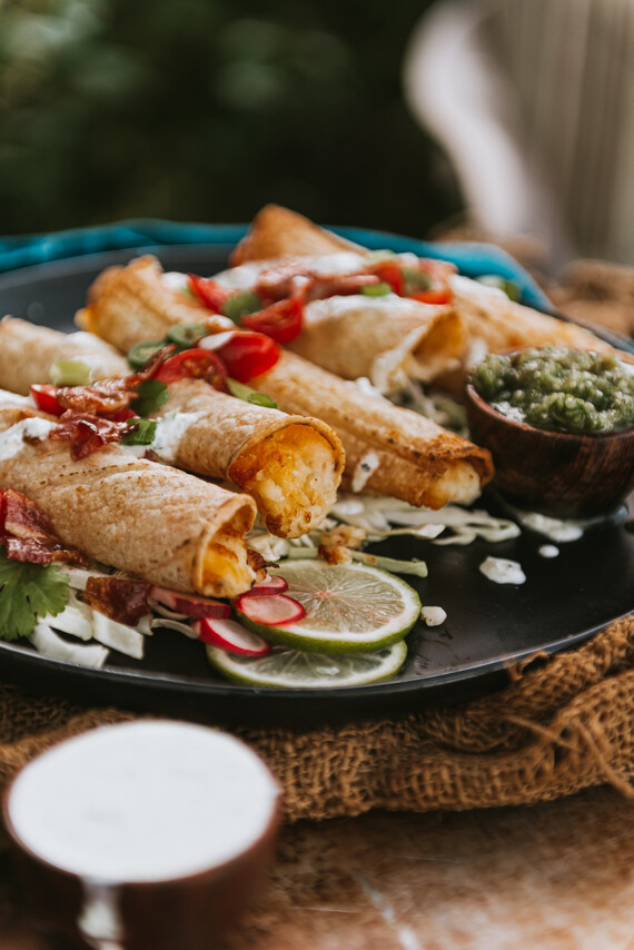 Cheesy Potato Taquitos