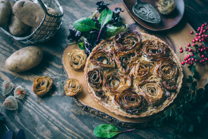 Potato Roses Tart