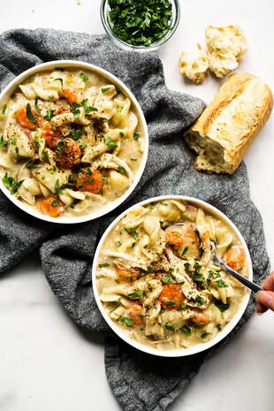 Instant Pot Creamy Chicken Noodle Soup