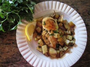 Chicken and Potato Piccata