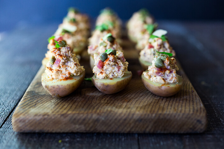 Idaho® Potato Salad Deviled Eggs