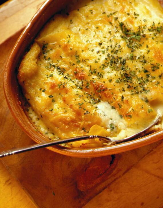 Crisp Pasta Shells Stuffed with Idaho® Potatoes and Cheese