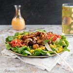 Chile Cumin Potato Taco Salad