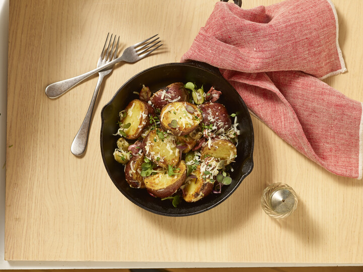 Potatoes with Lemon-Parmesan Butter and Olives