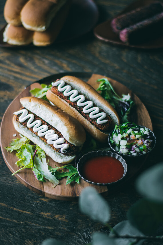 Homemade Veggie Dogs