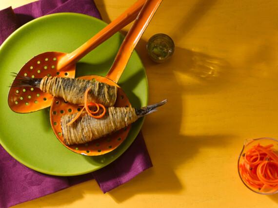 Crispy Idaho® Potato Wrapped Sardines