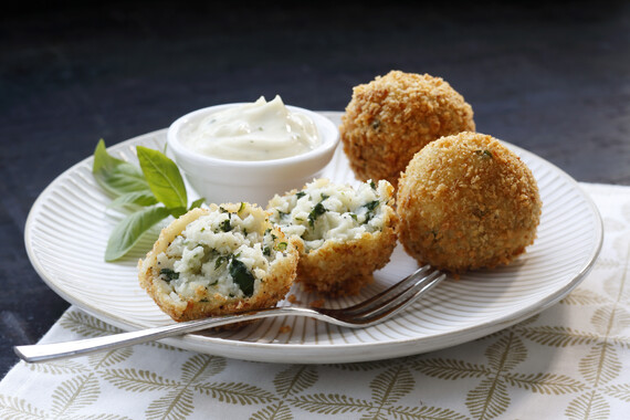 Blue Cheese Potato Croquettes