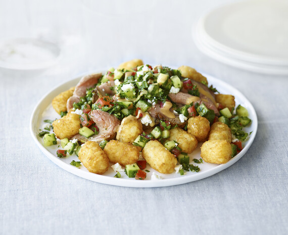 Idaho® Potato WesBurger Shawarma Tots