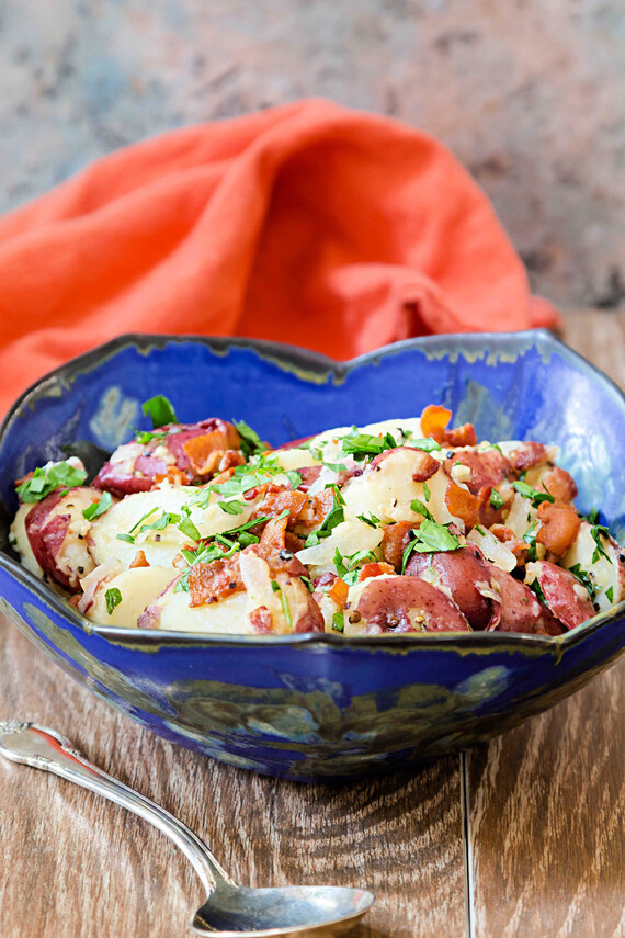 Whole 30-Compliant German Potato Salad with Red Potatoes
