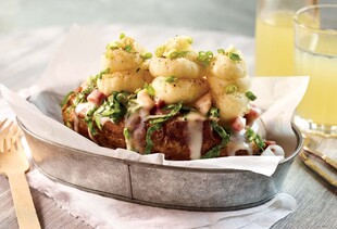 Le Brie Fondue Gourmet Stuffed Potato