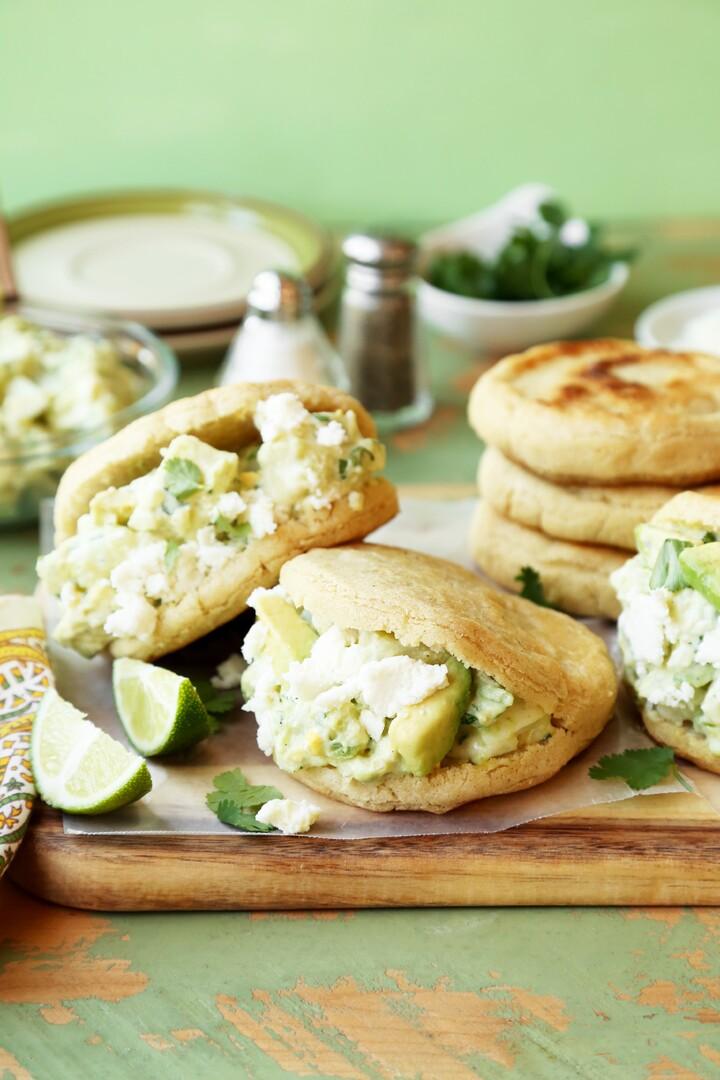Idaho® Potato and Avocado Salad Arepas