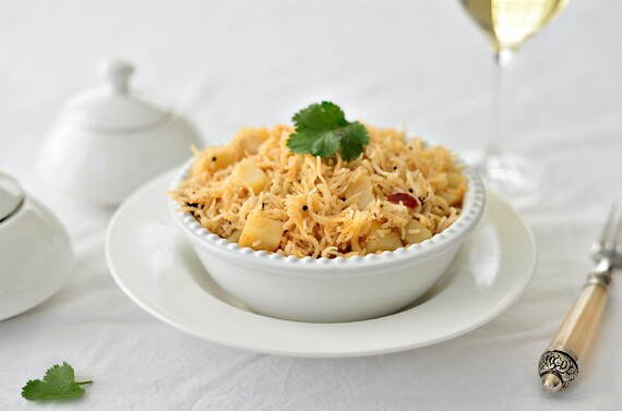 Potato and Onion Pilaf