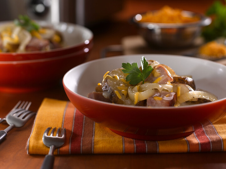 Easy, Cheesy Idaho® Potatoes and Ham