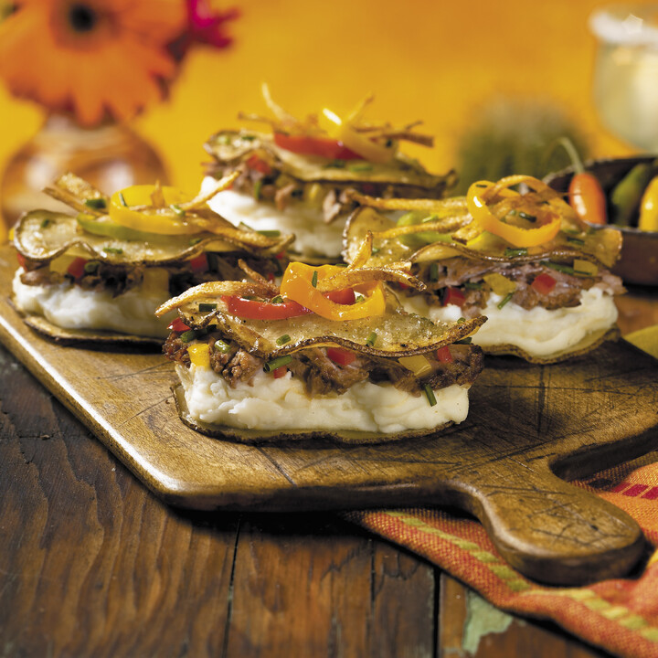 Idaho® Russet Potato Ravioli with Chile Beef Short Rib