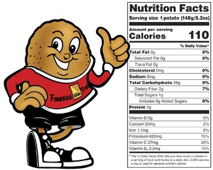 Spuddy Buddy and Nutritionals