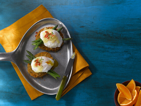 Idaho® Potato Cake Benedict