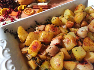Autumn Roasted Potatoes and Root Vegetables