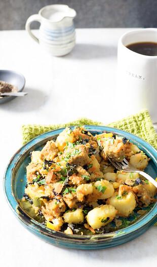 """""""I Love Idaho® Potatoes"""" Tempeh Hash with Veggies"""
