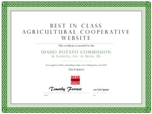Idaho Potato Commission Earns Recognition for Best Agricultural Cooperative Website