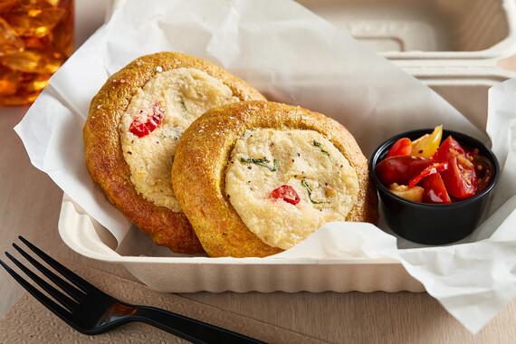 Potato Turmeric Bialys with Tomato Chutney