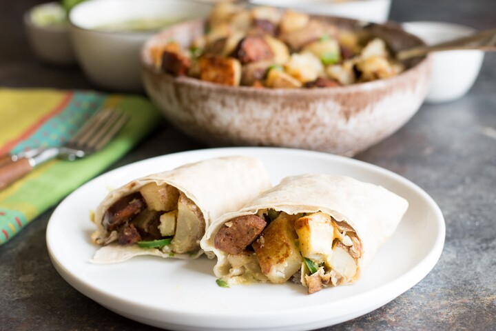 Idaho® Potato Chorizo Healthy Breakfast Burritos