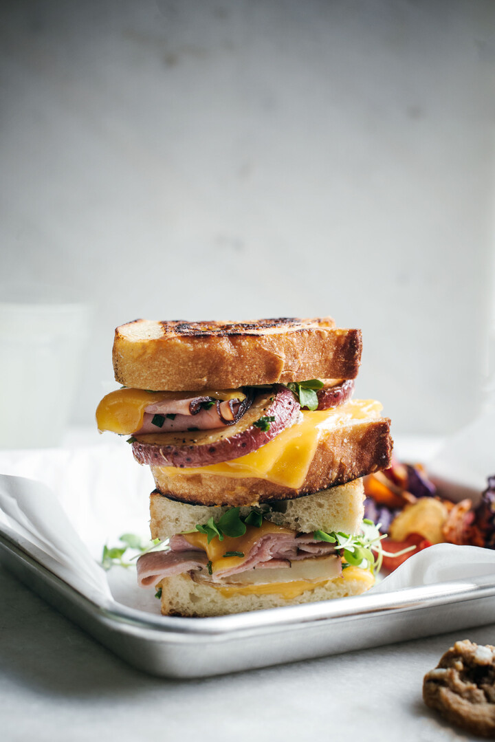 Loaded Potato Grilled Cheese Sandwich