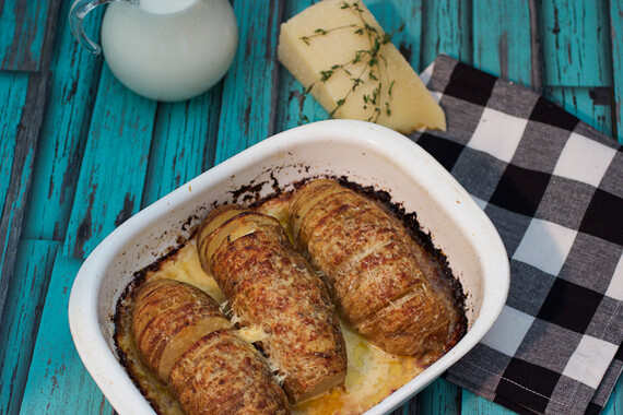 Hasselback Idaho® Potatoes Gratin