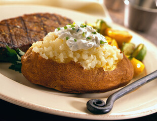 Baked Potatoes with Roasted Onion and Sour Cream
