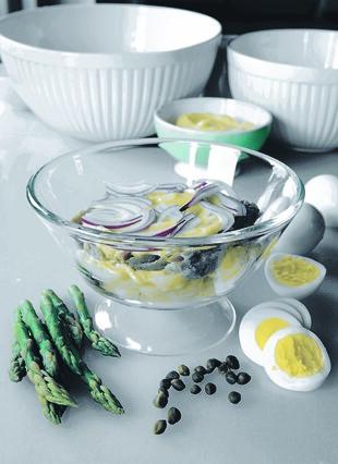 Italian Fast-Day Potato Salad, with Tuna, Hard-cooked Eggs, Asparagus