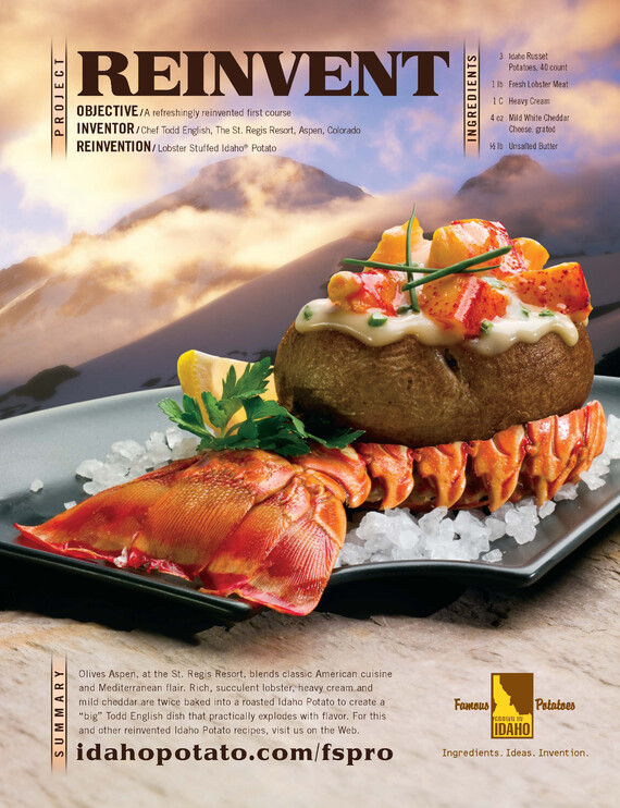Lobster Stuffed Idaho® Potatoes