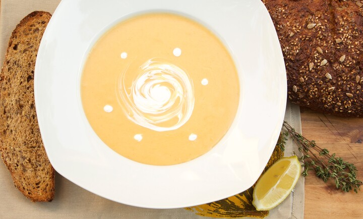 Cream of Potato-Carrot Soup