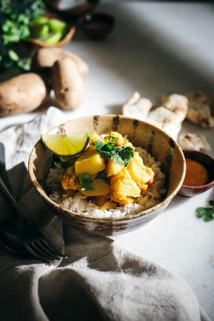 Potato, Butternut Squash, and Cauliflower Curry