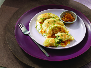 Zucchini, Spinach and Idaho® Potato Dumplings