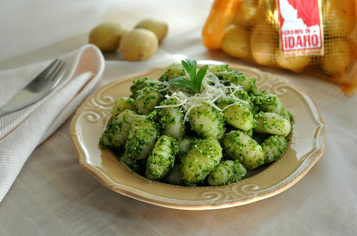 Idaho® Potato Gnocchi with Pesto