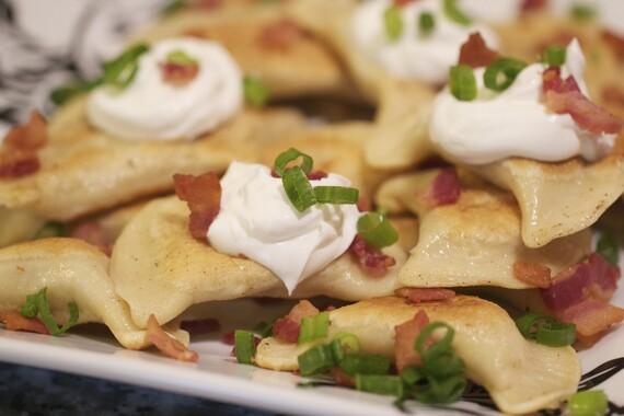 Idaho® Potato Pierogi with Bacon and Cheese
