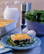Portabella and Spinach layered Idaho® Potato Soufflé
