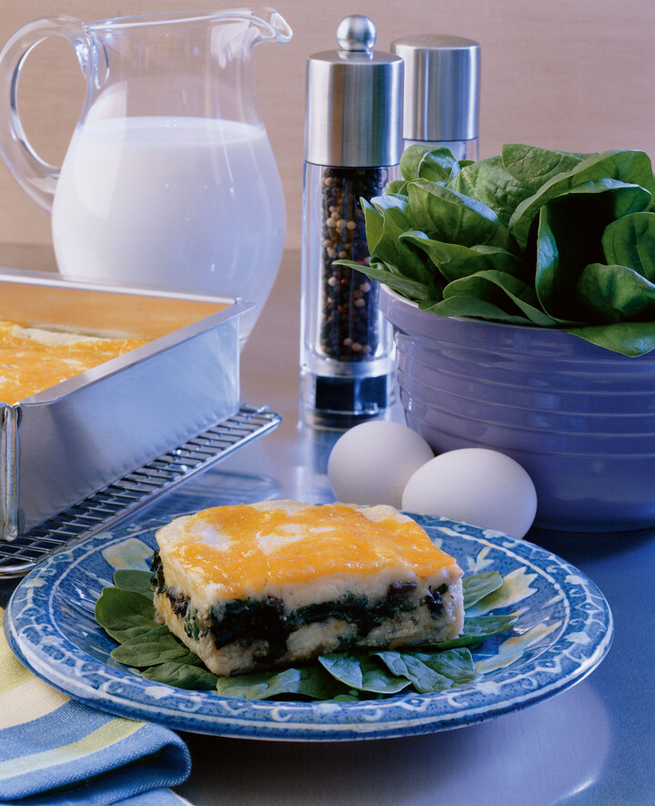 Portabella and Spinach layered Idaho® Potato Soufflé