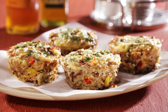 Cheesy Idaho® Potato Hashbrown Muffins