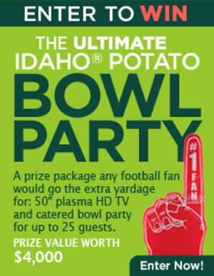 Idaho Potato Commission Awards Big Bowl Party to Sweepstakes Grand Prize Winner