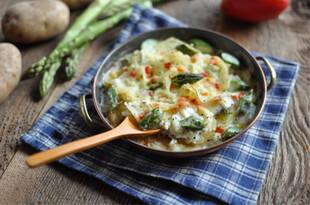Idaho® Potato and Jarlsberg Lite Gratin