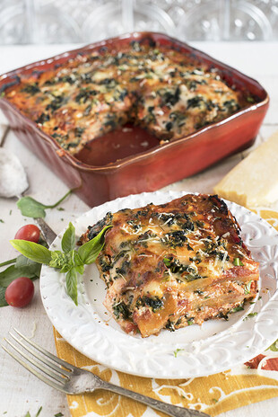 Spinach and Idaho® Potato Lasagna