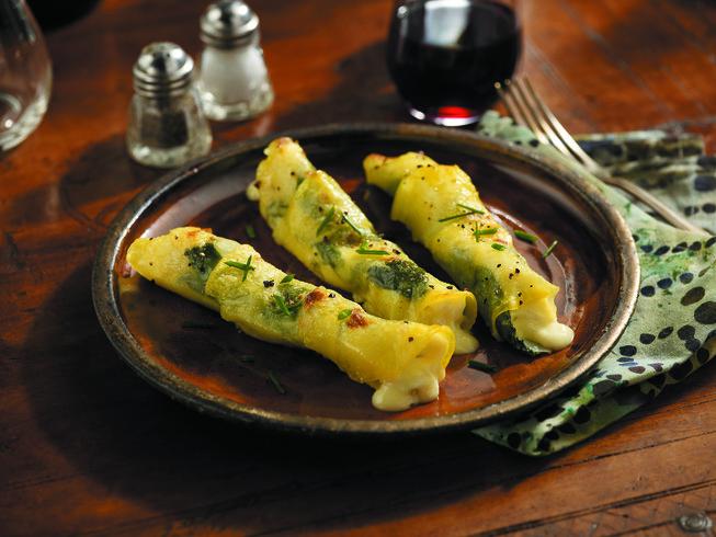 Potato Cannelloni Stuffed with Ricotta